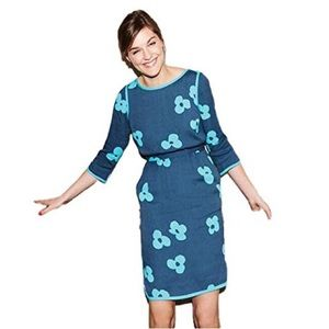 Boden Tipped Clover Blue & Teal Dress Size 10